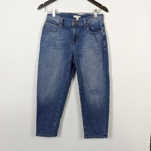 Eileen Fisher Organic Petite Crop Boyfriend Jeans